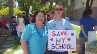 Rally for strong schools August 2017
